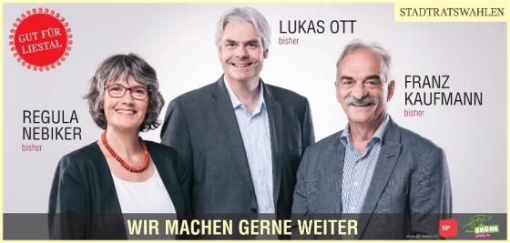 Lukas Ott wieder in den Stadtrat - gemeinsam mit Franz Kaufmann und Regula Nebiker!